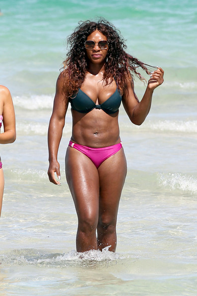 Serena williams boob size
