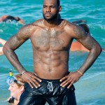 LeBron James Muscular Body