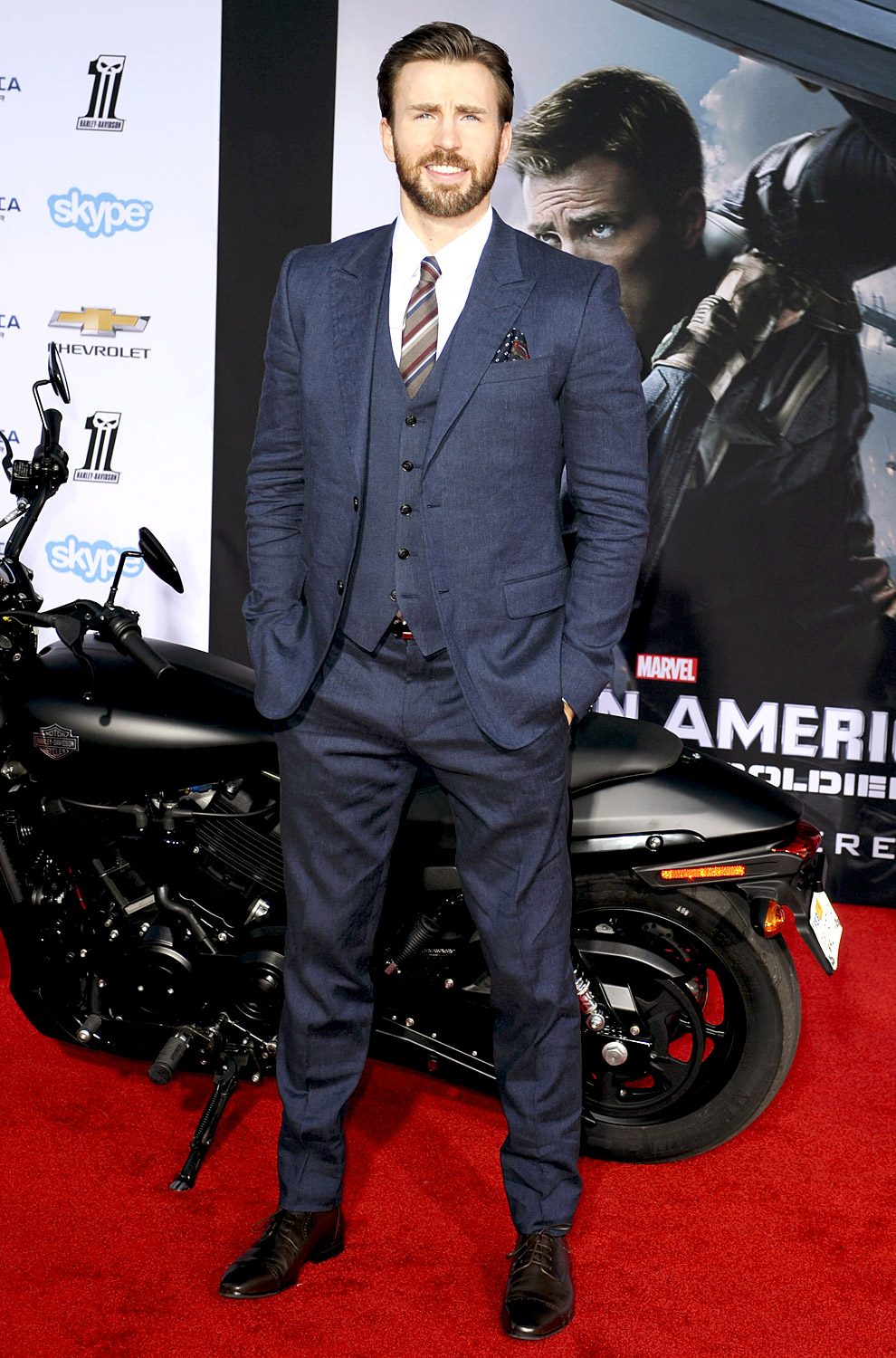 Chris Evans Measurements Height And Weight